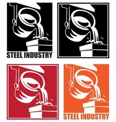 steel industry vector image