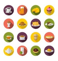 Breakfast icon flat vector image