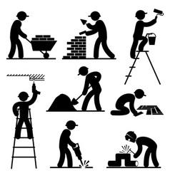 builder people vector image