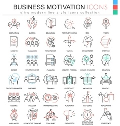 Business motivation ultra modern color vector image vector image