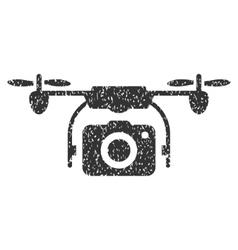 Camera Drone Grainy Texture Icon vector image vector image