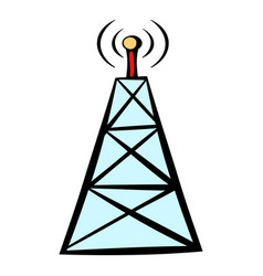 cell phone tower icon icon cartoon vector image