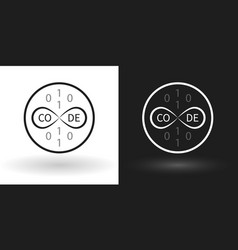 creative code icon using the sign of infinity vector image