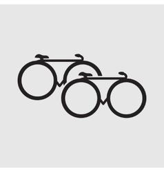 Minimalistic bicycle icon vector image vector image
