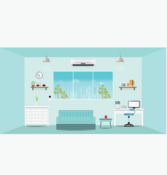 modern home office interior vector image vector image