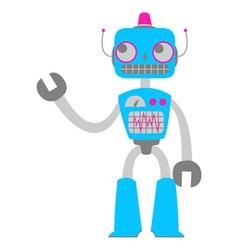 retro tin robot toy vector image