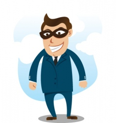 robber wearing suit vector image