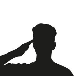 silhouette of an unknown soldier vector image