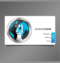 business card for surveyor and cartography vector image vector image