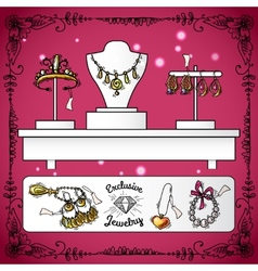 Jewelry Shop Display vector image vector image