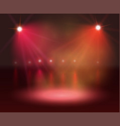 spotlight on stage and lights vector image vector image