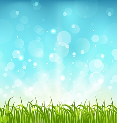 Summer nature background with grass vector image