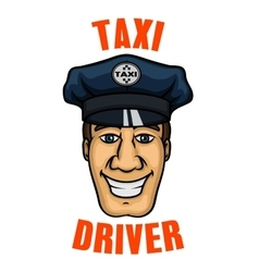 Taxi driver in uniform peaked cap vector image