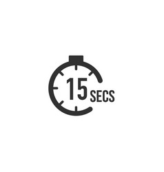 15 seconds countdown timer icon set time interval vector