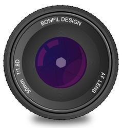 50mm AF Lens vector image