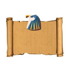 Ancient egypt papyrus part cartoon vector