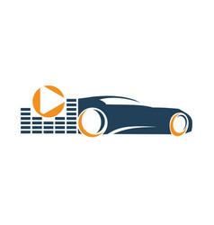 audio car system volume player music logo vector image