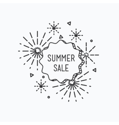 Big summer sale shining banner colorful vector image