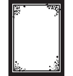 black floral corners background vector image
