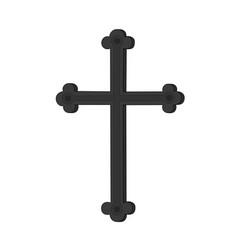black metal cross tools icon vector image