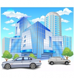 Building with parking vector