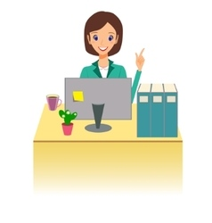 Business woman working in office Character vector