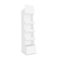 Cardboard display stand with 4 shelf vector