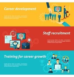 career banner set vector image