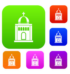 church set collection vector image