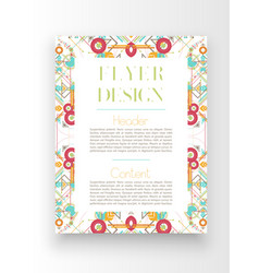 colorful templateposter design vector image