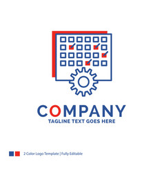 Company name logo design for event management vector