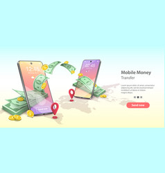 Concept mobile money vector