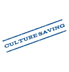 Culture Saving Watermark Stamp vector