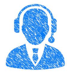 Dispatcher grunge icon vector