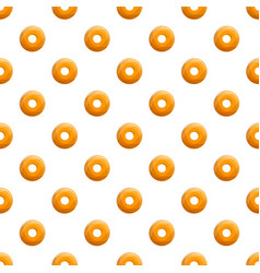donut cookies bakery pattern seamless vector image