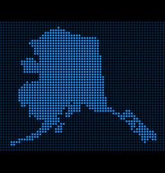 Dotted pixel alaska map vector