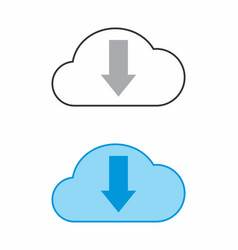 download cloud icon vector image