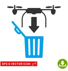 Drone Drop Trash Eps Icon vector image
