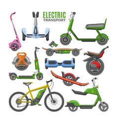 electric transport hoverboard scooter vector image
