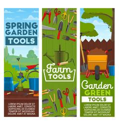 farm and garden tools vector image
