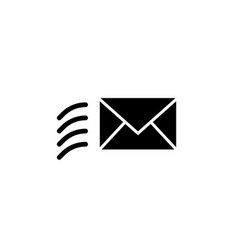 flat glyph mail news envelope message icon symbol vector image