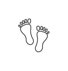 foot footsteps line icon simple modern flat for vector image