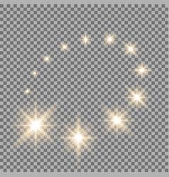 Glittering flying stars golden vector