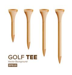 Golf tees realistic wooden vector