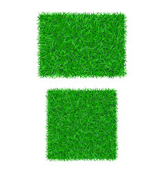 Green grass background 3d set isolated lawn vector