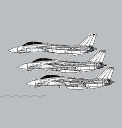 grumman f-14 tomcat vector image