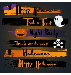 Happy Halloween CalligraphyBanner inscription vector image