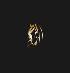 head horse abstract logo vector image