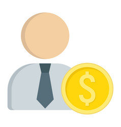 Investor flat icon business and finance vector