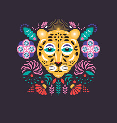 leopard stylized vector image